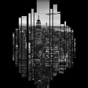 Große Stadt schwarz weiß