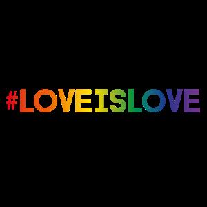 Regenbogen Design - Hashtag Love is Love
