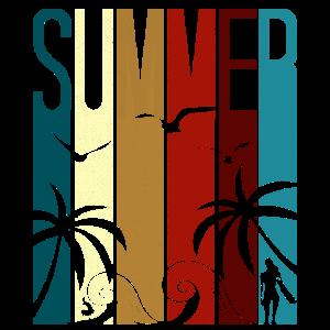 Summer Beach Surfing