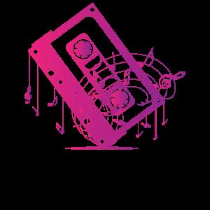 Musik Kassette mit Musiknoten
