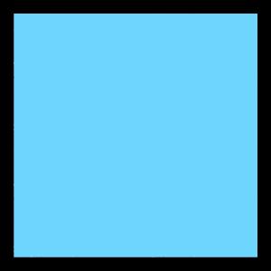 Quadrat hellblau