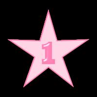 Eins Stern Geburtstag Kindergeburtstag Birthday