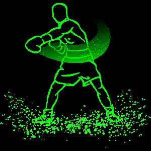Boxer Boxen Geschenk Kampf Neon
