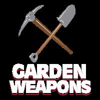 Garten Waffen Schaufel Spitzhacke