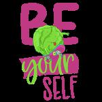 Be yourself happy Veggie Kohlkopf - Vegan Skater