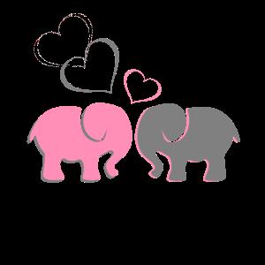 Süßes Elefantenpaar