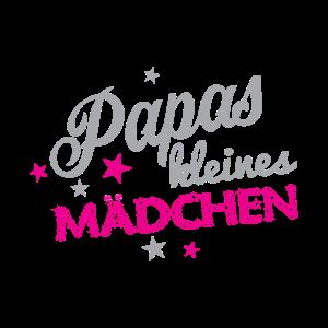 Papas Kleines Mädchen T-Shirt für Kinder