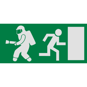 Feuerwehrmann Exit Notausgang