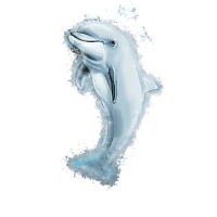 Delphin Säugetier hell glühend