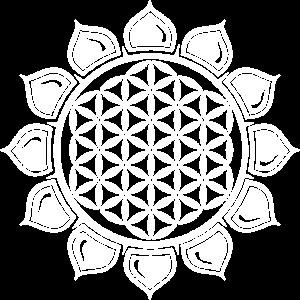 Blume des Lebens in Herz Chakra Lotus Zeichen