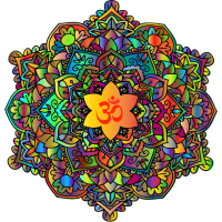 Mandala Farbenfroh Bunt