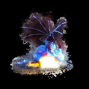 Drachen magische hell glühend
