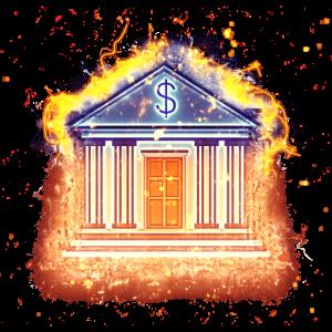 Gebäude Finanzen brennend