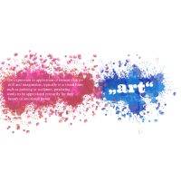 Kunst Definition mit Farbklecksen Geschenk