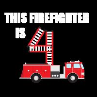 4. Geburtstag Feuerwehr Feuerwehrauto Geschenk