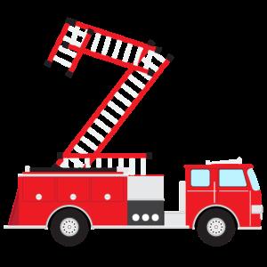 2. Geburtstag Feuerwehr Feuerwehrauto Geschenk