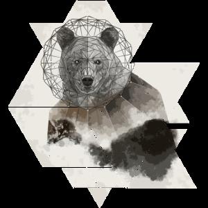 Bär aus geometrischen Formen