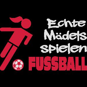 Echte Mädels spielen Fussball