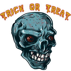 Trick or Treat Süßes oder Saures Happy Halloween