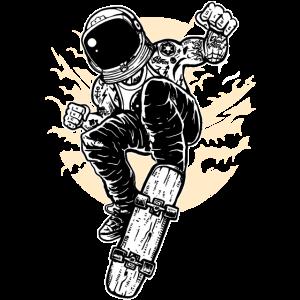 Astronaut Skater Weltraum Raumfahrt