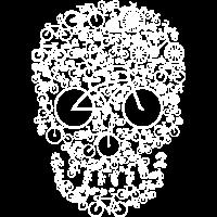 Fahrrad Schädel - Bicycle Skull - Biken - MTB