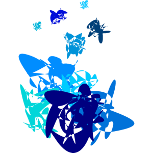 blau, abstraktes Design in Blau