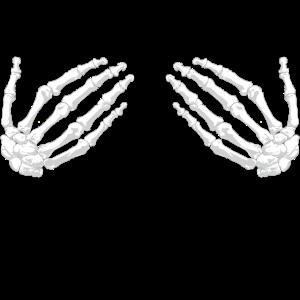 Skelett Halloween Funny Frauen Knochen Hände Brust
