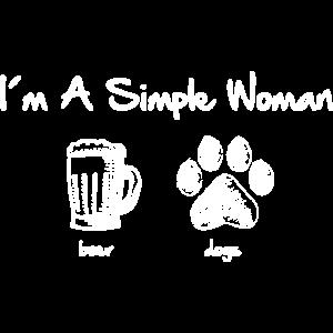 simple woman beer white