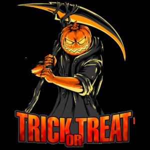 Horror Kürbis Sense Trick or Treat Halloween