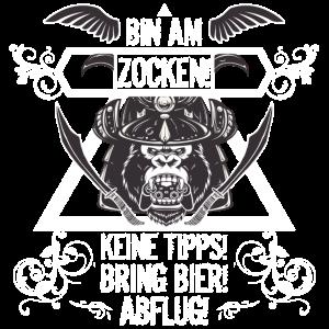 Gamer Shirt • Bin am Zocken • Gamer Geschenk