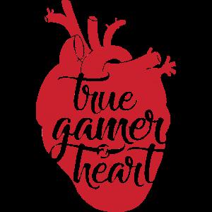 True Gamer Heart Shirt