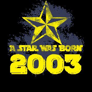 2003 geboren Geburtstag Stern Geschenk distressed