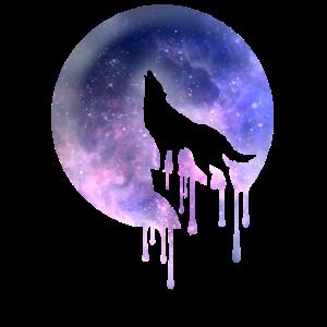 wolf mond weltall