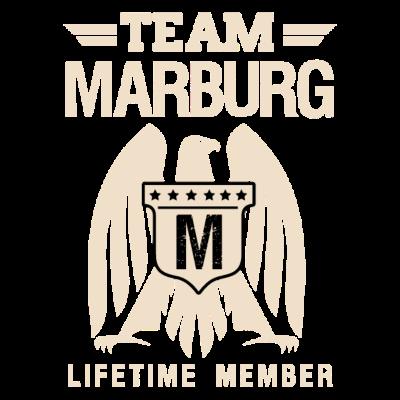 Team Marburg - Marburger Shirt für Marburg lebende - Geschenkidee,idee,geschenk,marburg