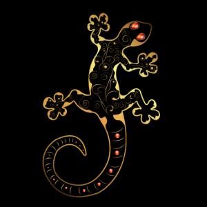 Wundervoller dekorativer Gecko