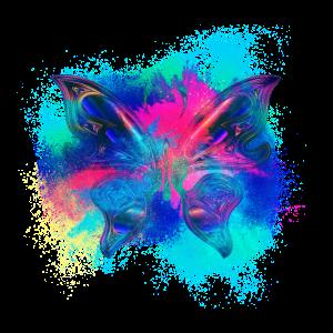Irisierend chromatisch farbenfroh