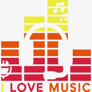 I love music Illustration Gig Band Musik Godigart