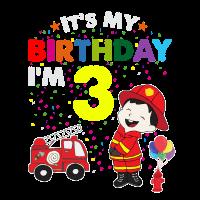 Feuerwehr Geburtstag Kinder T-Shirt 3 Jahre Junge