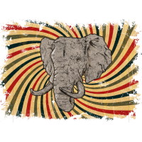 Elephant Retro Safari