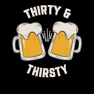 Dreißig Und Durstig 30. Geburtstag Bier Geschenk