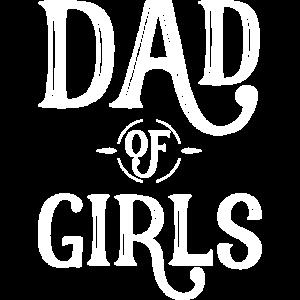 dad of girls maenner premium tank top