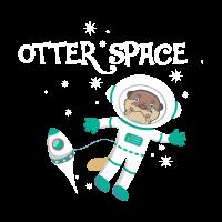 otter space cosmonaut maenner bio t shirt