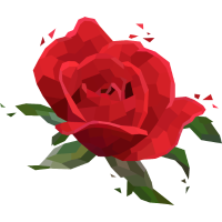 Rose Low-Poly-Style