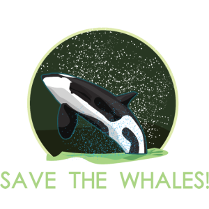 Save the Planet Rettet die Wale Orca Wal Killerwal