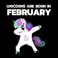Einhörner sind im Februar geboren