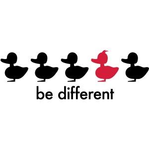 be different Ente Entchen Irokese Schnabel Punk Slogan Duck individuell Spruch einzigartig watscheln Schnabeltier