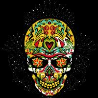 Stammes- Tätowierungskopf des mexikanischen Schädel Stammes- Schädels 8