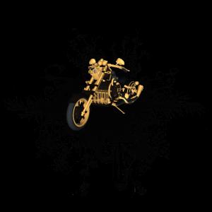Wunderschönes Motorrad mit Blumenmuster