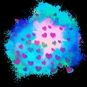 Herz transparent farbenfroh