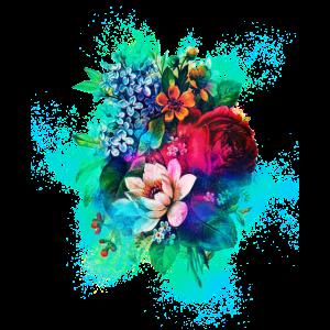Blume Collage farbenfroh